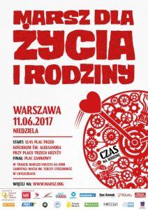 Marsz dla Życia i Rodziny 2017 warszawa