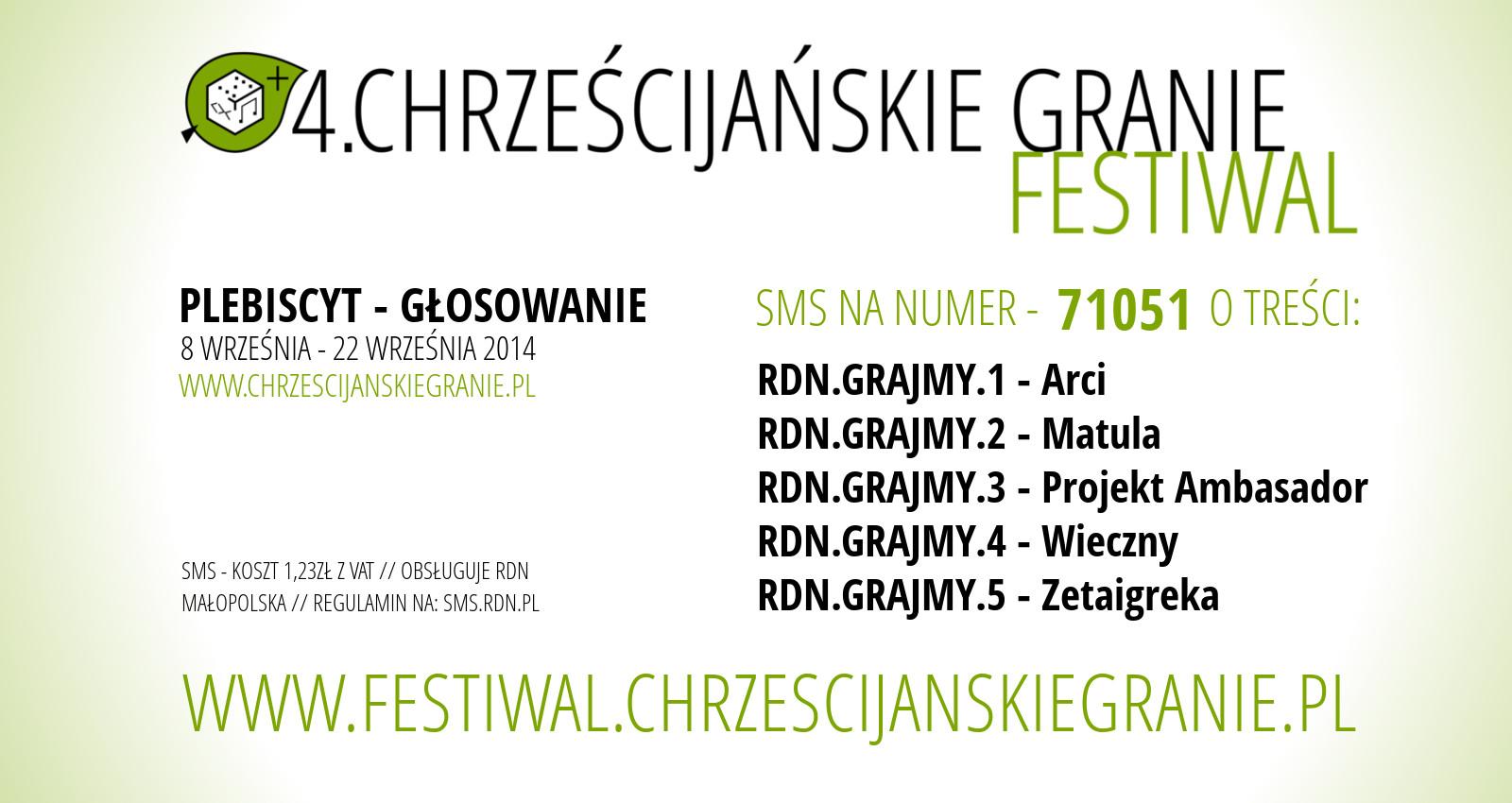 4. Festiwal Chrześcijańskie Granie - rusza głosowanie!