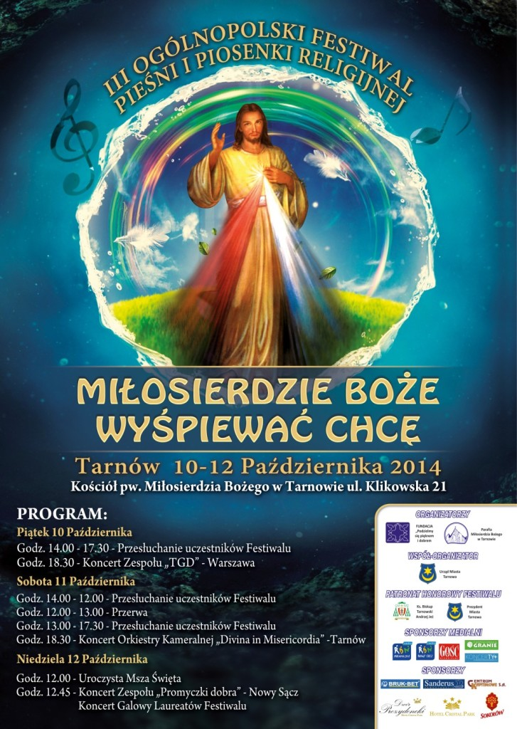 III Festiwal Miłosierdzie Boże Wyśpiewać Chcę - Tarnów