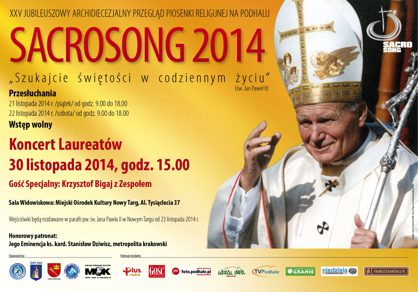 Sacrosong 2014 - Nowy Targ