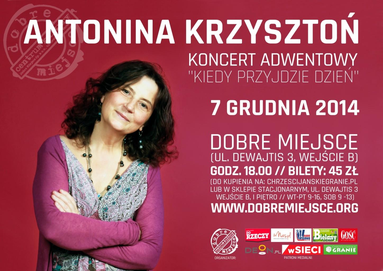 Koncert Antonina Krzysztoń w Dobrym Miejscu