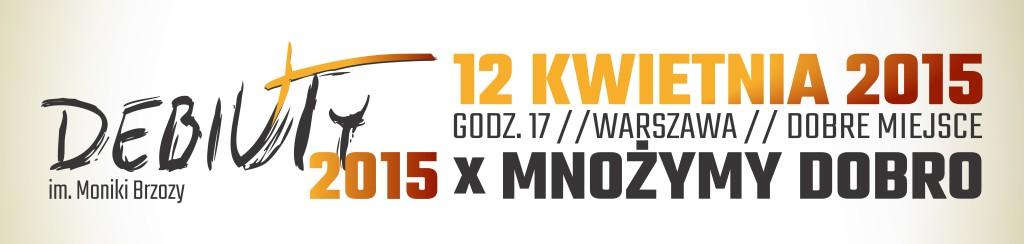 Debiuty 2015 - logo