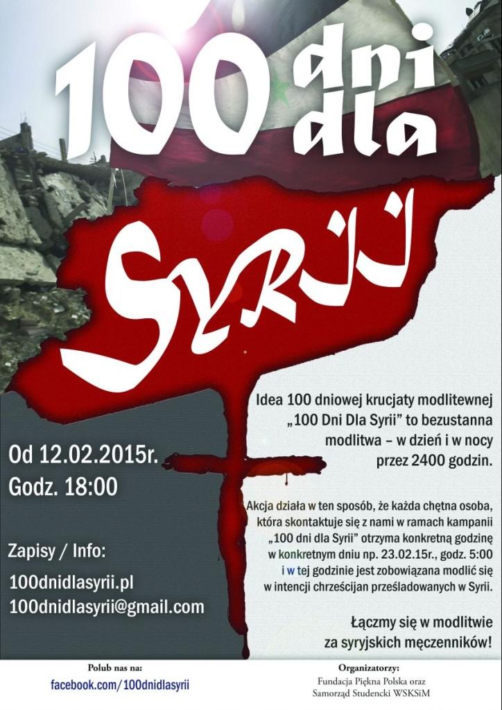 100 Dni dla Syrii - plakat