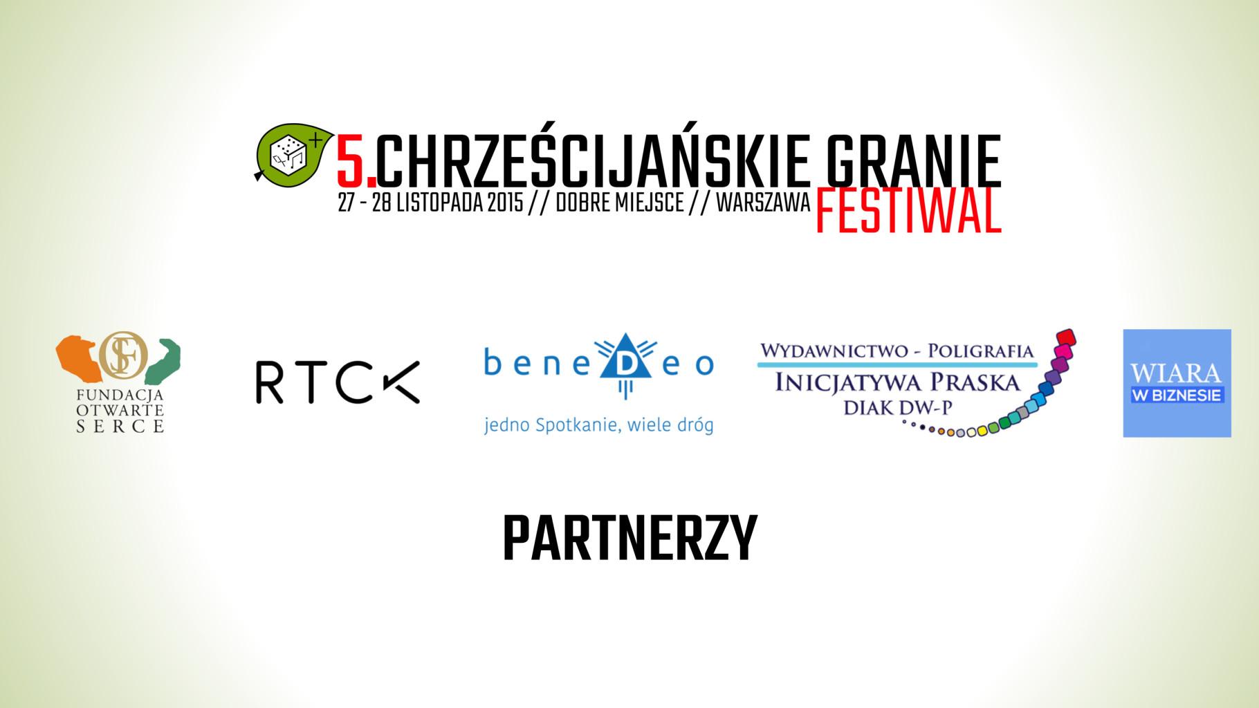 partnerzy festiwalu chrzescijanskie granie