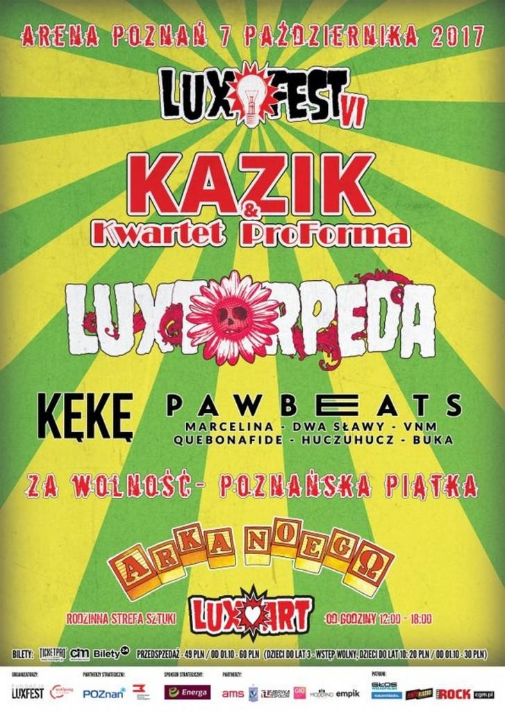 Luxfest 6 Poznań 7 października 2017
