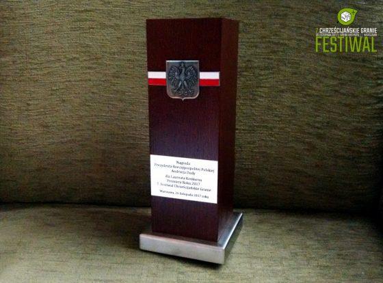 Statuetka od Prezydenta RP Andrzeja Dudy