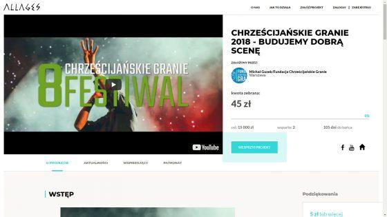 Zbiórka na Festiwal 2018 Allages