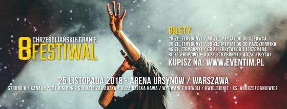 Festiwal Chrześcijańskie Granie 2018 bilety