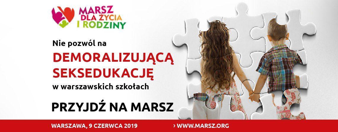 Marsz Dla Życia i Rodziny 2019 warszawa